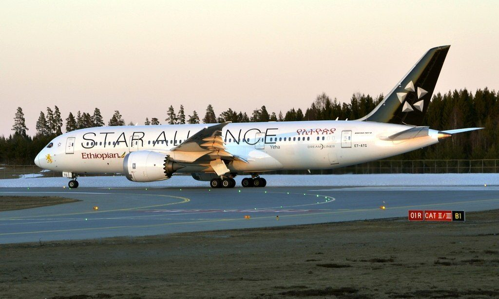 Ethiopian Airlines Boeing 787 8 Dreamliner ET ATG Yeha Star Alliance Livery at Oslo Airport