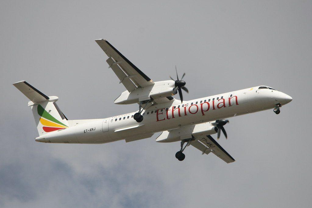 Ethiopian Airlines Bombardier DHC 8 Q402 ET ANJ