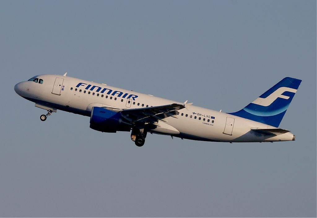 Finnair Airbus A319 112 OH LVC at Frankfurt Airport