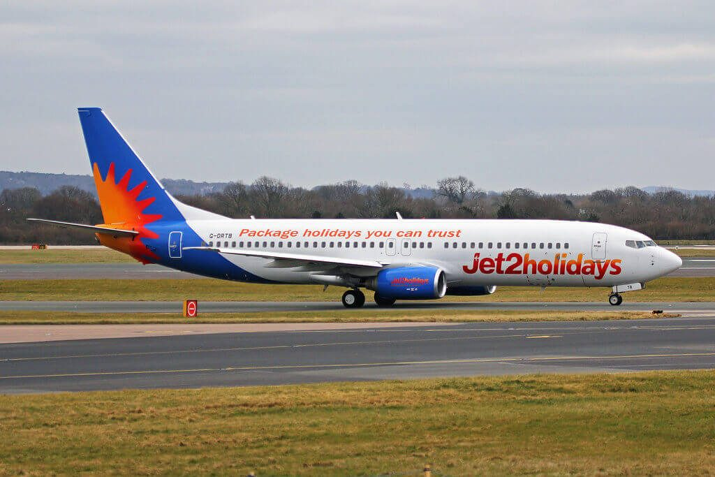 G DRTB Boeing 737 86N Jet2holidays at Manchester Airport