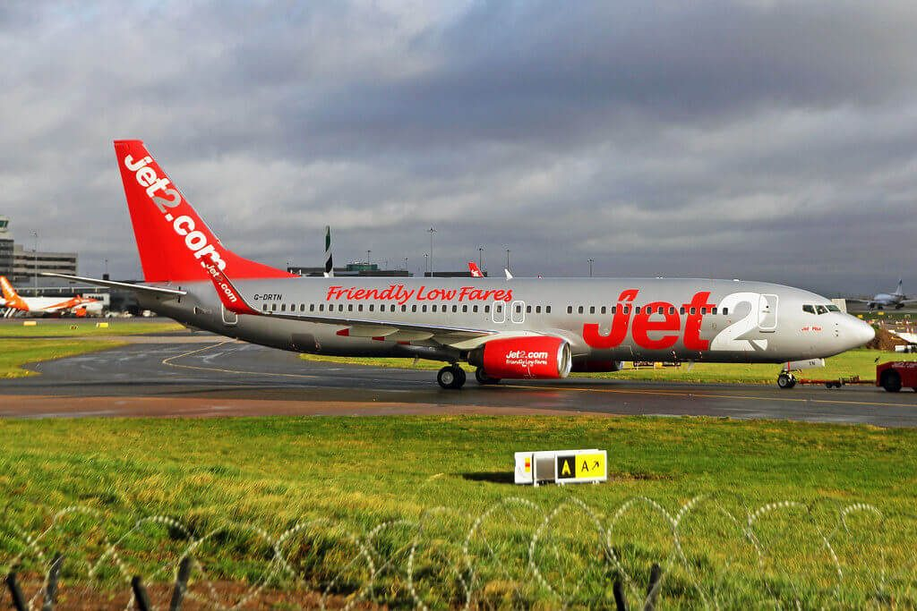 G DRTN Boeing 737 86NWL Jet2 Pisa at Manchester Airport