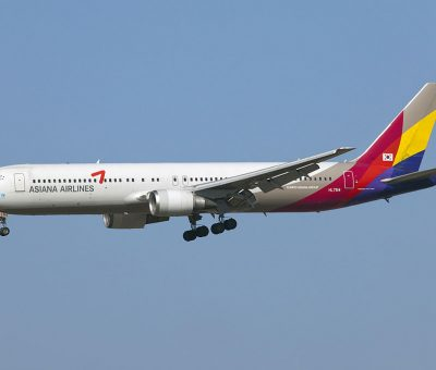 HL7514 Asiana Airlines Boeing 767 38E at Incheon International Airport