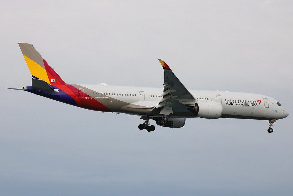 HL7578 Airbus A350 941 Asiana Airlines at San Francisco Airport