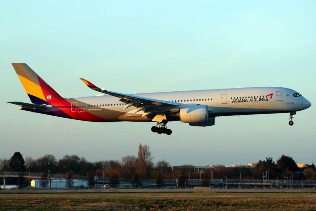 HL7579 Asiana Airlines Airbus A350 941 at London Heathrow Airport