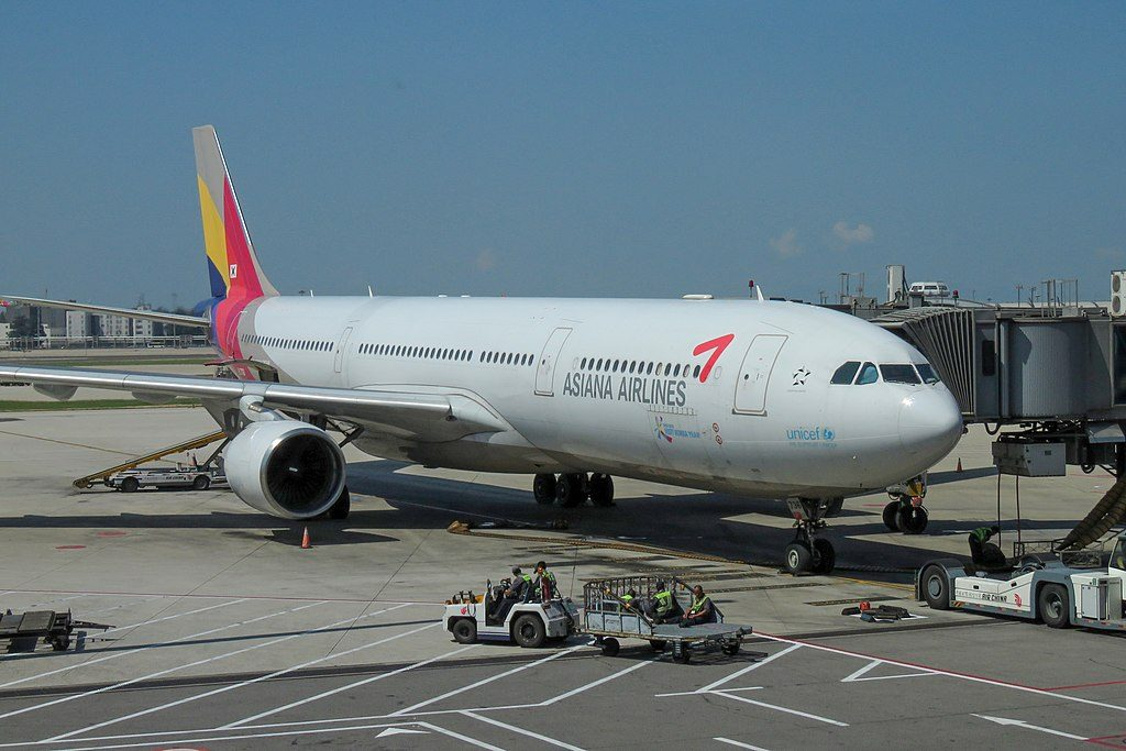 HL7736 Airbus A330 323 Asiana Airlines at Beijing Capital International Airport