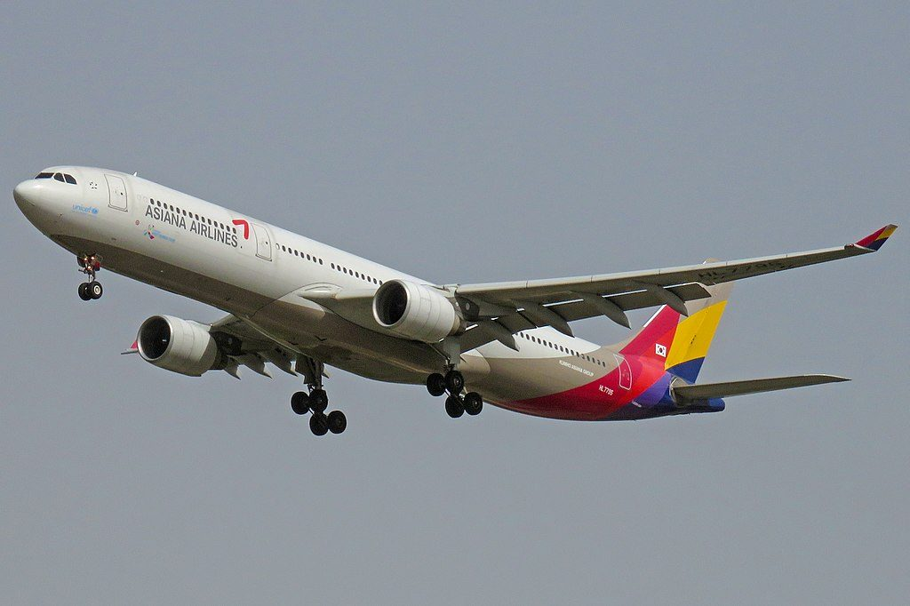 HL7795 Airbus A330 323 Asiana Airlines at Beijing Capital International Airport