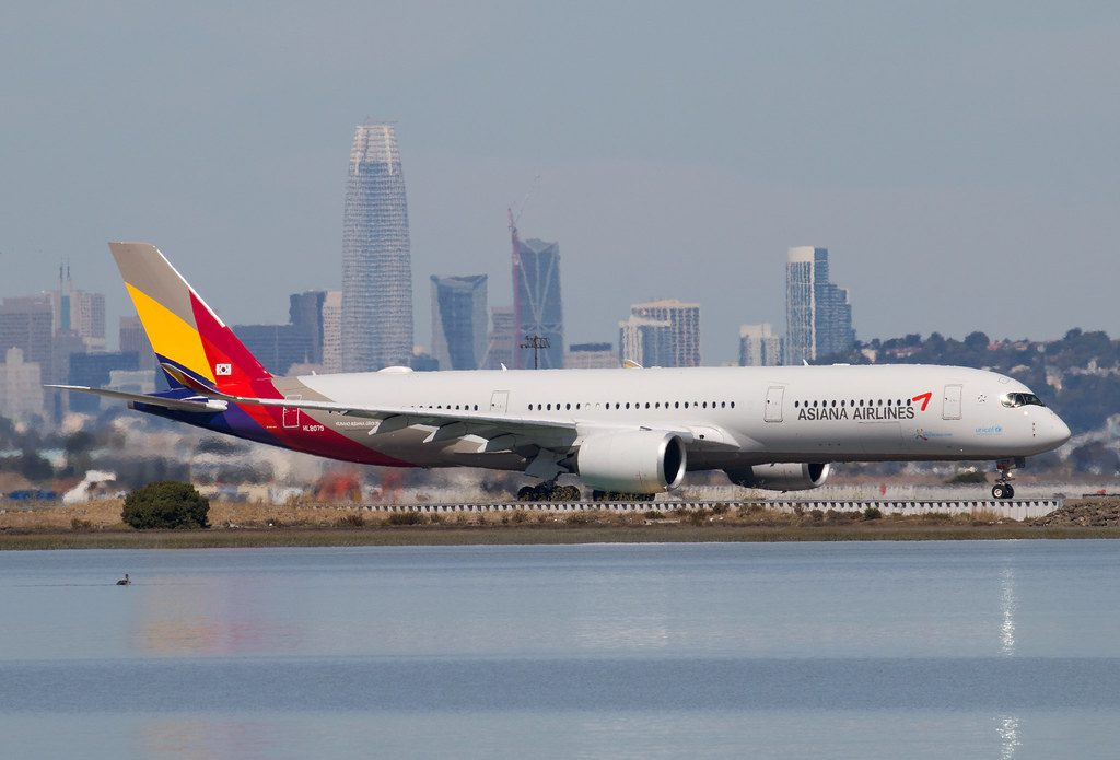 HL8079 Airbus A350 941 Asiana Airlines at SFO Airport