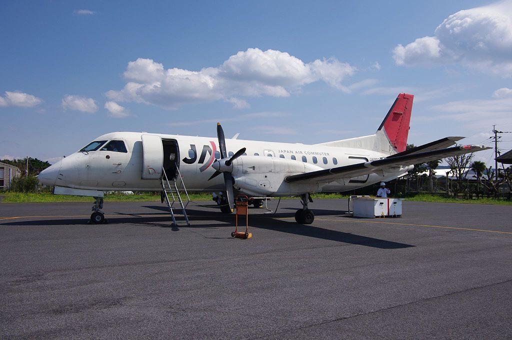 JA002C Japan Air Commuter JAC Saab340B at Kikai