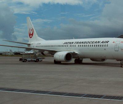 JA01RK Boeing 737 8Q3WL Japan Transocean Air JTA at Naha Airport
