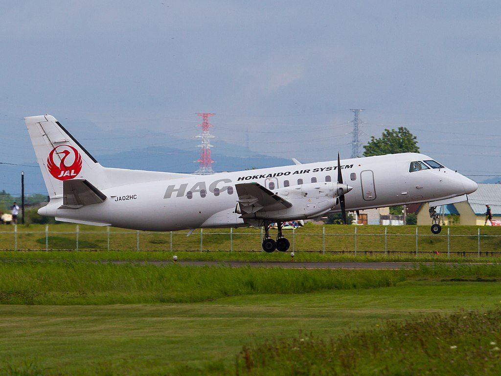 JA02HC Hokkaido Air System aircraft Saab 340B at Okadama Airport