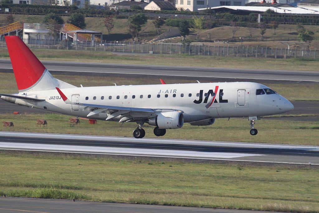 JA213J Embraer 170 JAL J Air at Osaka International Airport