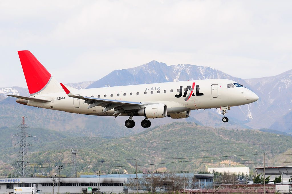 JA214J JAL J Air Embraer ERJ 170SU at Yamagata Airport