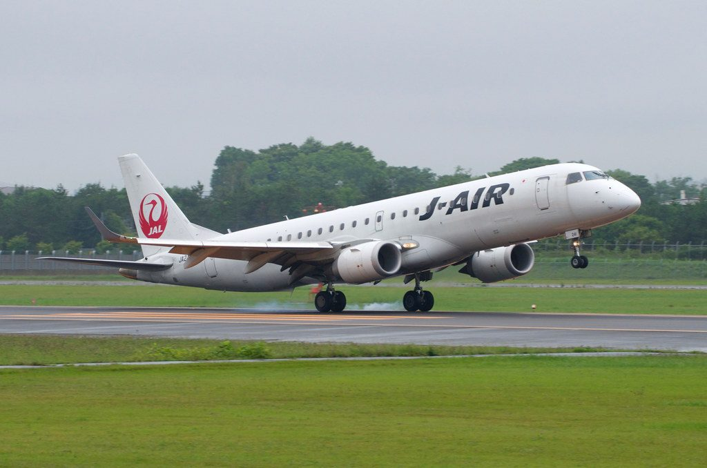 JA241J Embraer ERJ 190 100 JAL J Air at Hakodate Airport