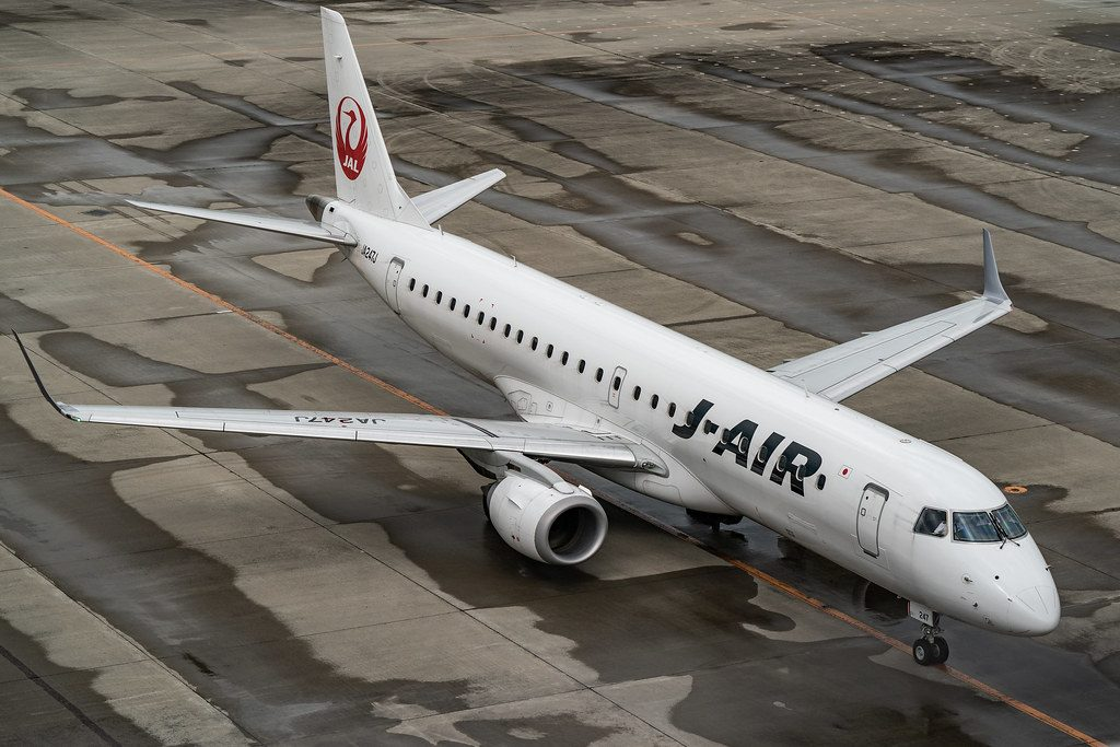 JA247J Embraer ERJ 190STD JAL J Air at Sendai International Airport