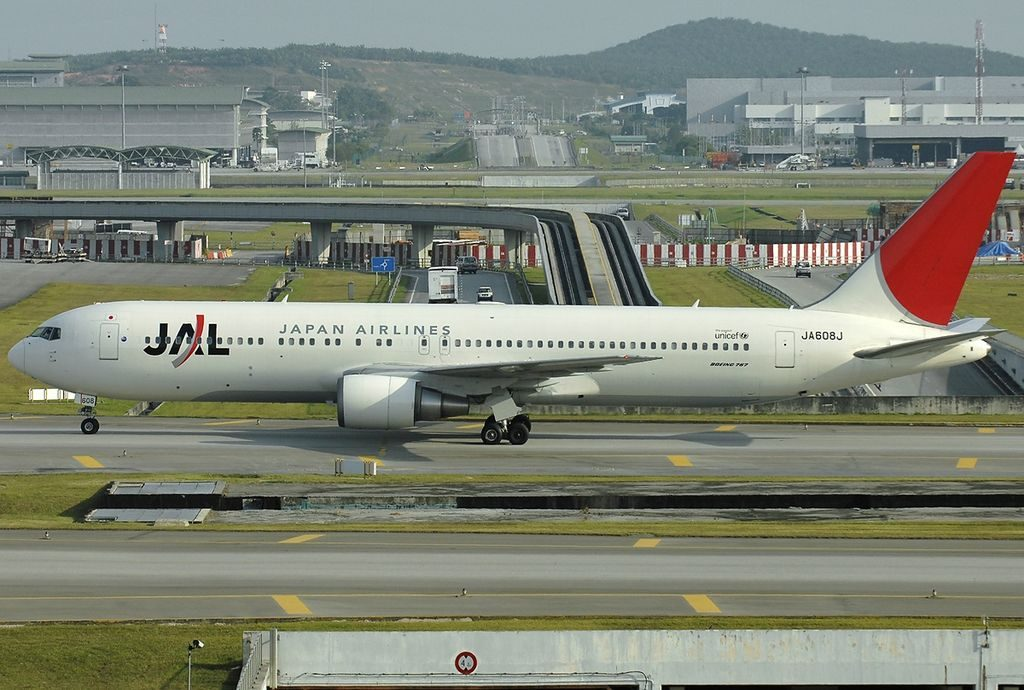 JA608J Boeing 767 346ER Japan Airlines JAL at Kuala Lumpur International Airport
