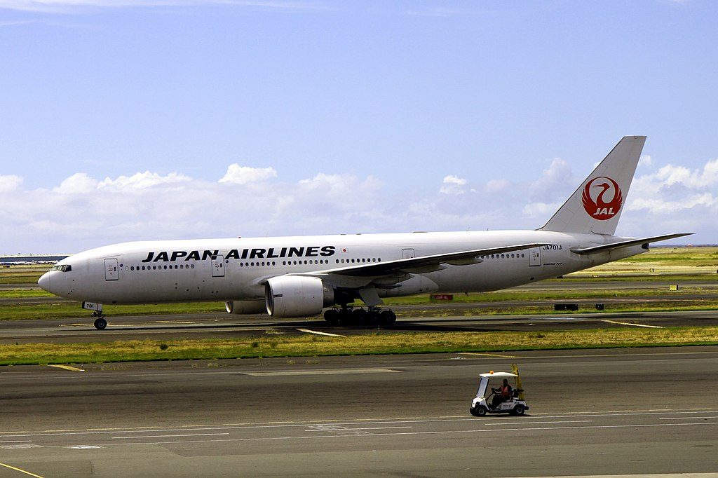 JA701J Boeing 777 246ER Jalan Airlines JAL at Honolulu International Airport