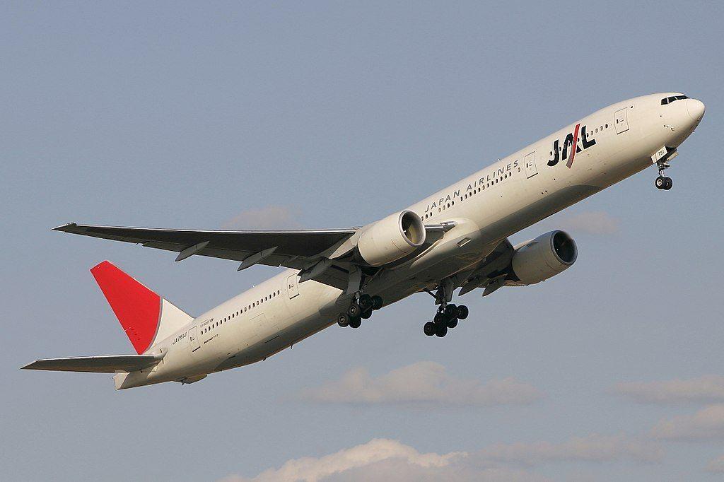 JA751J Boeing 777 346 Japan Airlines JAL at Fukuoka Airport