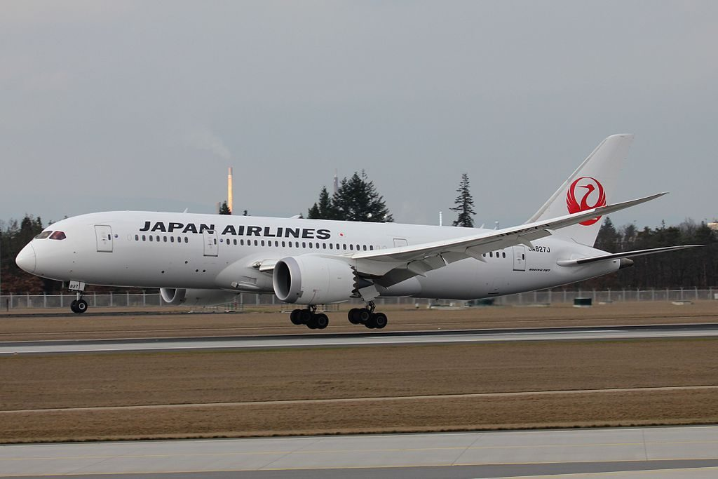 JA827J Boeing 787 8 Dreamliner Japan Airlines JAL at Frankfurt Airport