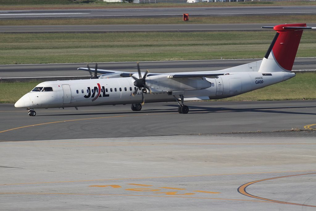 JA843C De Havilland Canada DHC 8 400 of Japan Air Commuter at Osaka International Airport