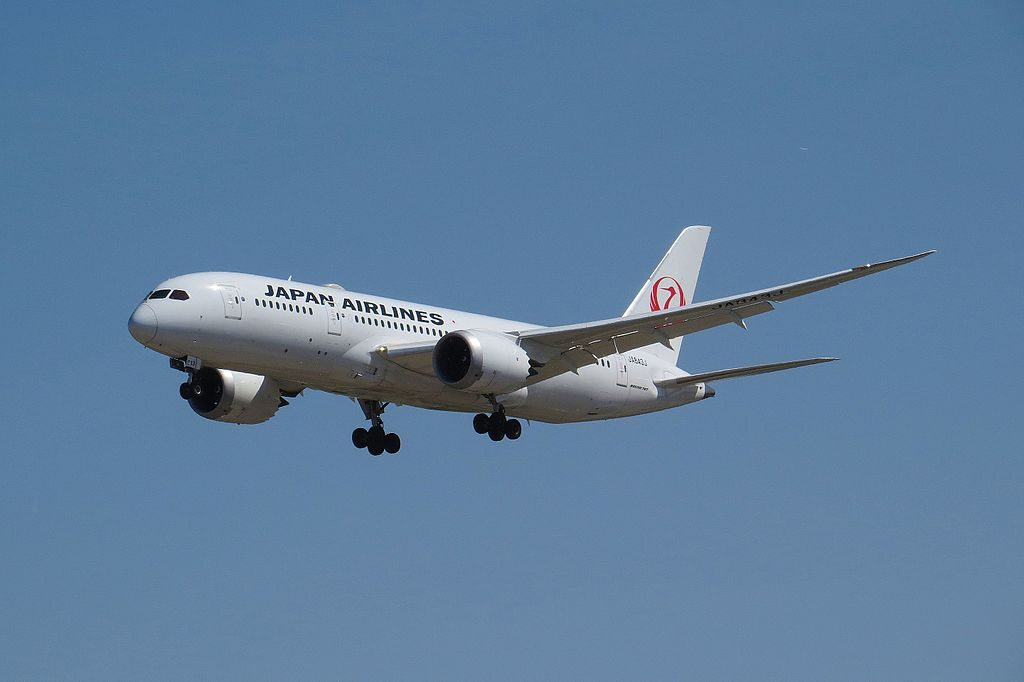 JA843J Boeing 787 8 Dreamliner of Japan Airlines JAL at Beijing Capital International Airport