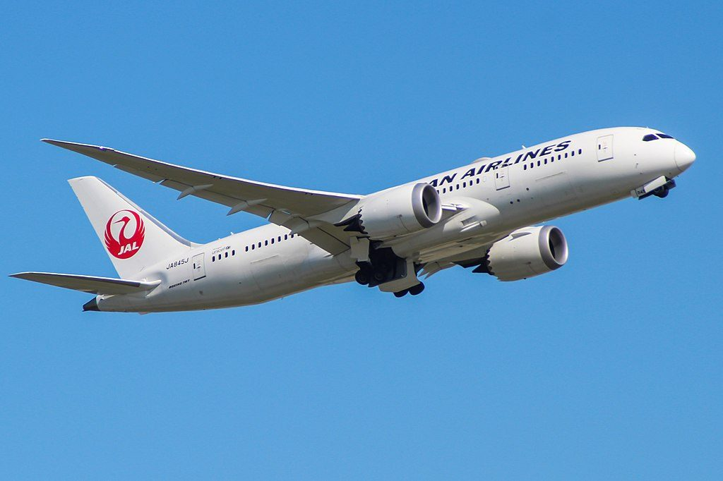 JA845J Boeing 787 8 Dreamliner of Japan Airlines JAL at London Heathrow Airport
