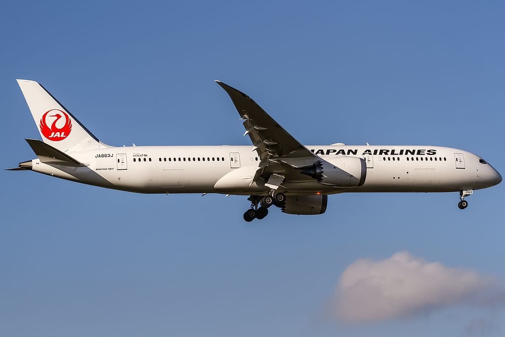 JA863J Japan Airlines JAL Boeing 787 9 Dreamliner from Tokyo Narita at Frankfurt Airport