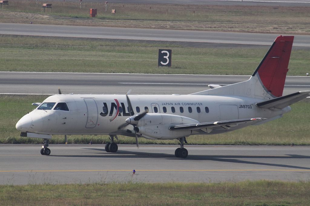 JA8703 Saab 340B of Japan Air Commuter at Osaka International Airport