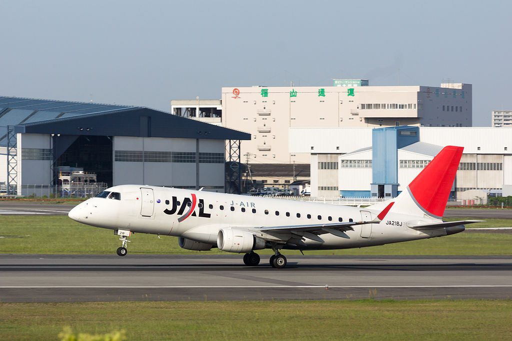 JAL J Air Embraer ERJ 170 100 JA218J at Osaka International Airport
