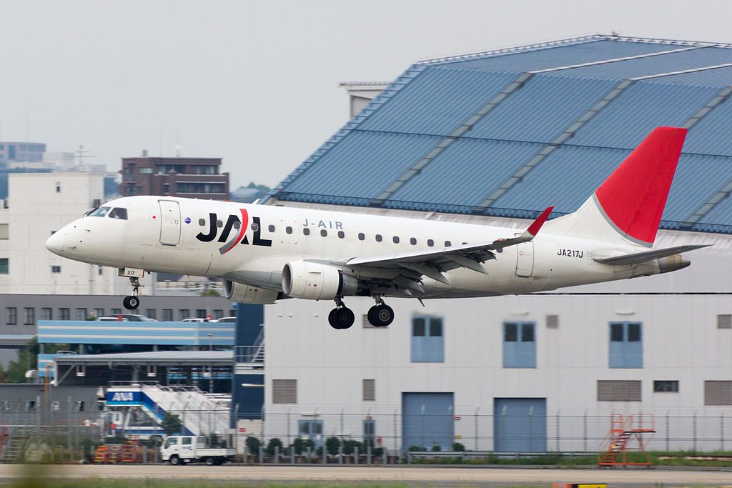 JAL J Air Embraer ERJ 170 JA217J at Osaka International Airport