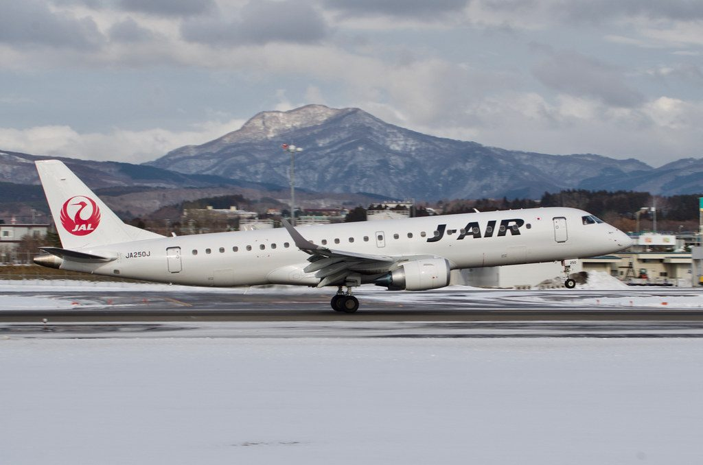 JAL J Air Embraer ERJ 190 100 JA250J at Hakodate Airport