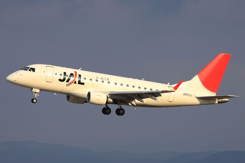 JAL J Air JA211J Embraer E170 at Nagoya Airport