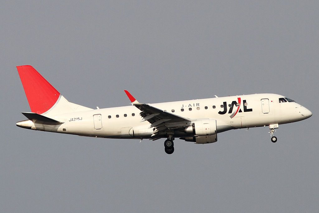 JAL J Air JA215J Embraer 170STD at Tokyo International Airport