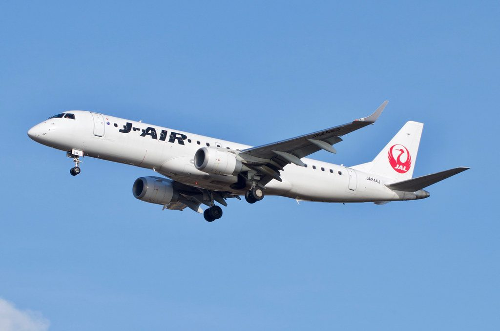 JAL J Air JA244J Embraer ERJ 190 100 at Hakodate Airport
