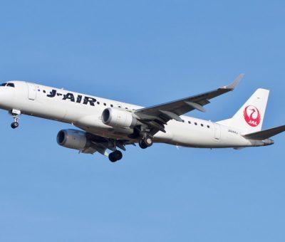 JAL J Air JA244J Embraer ERJ 190 100 at Hakodate Airport