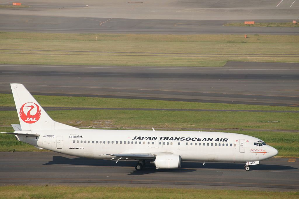 JAL JA8996 Japan Transocean Air Boeing 737 446 at Haneda Airport