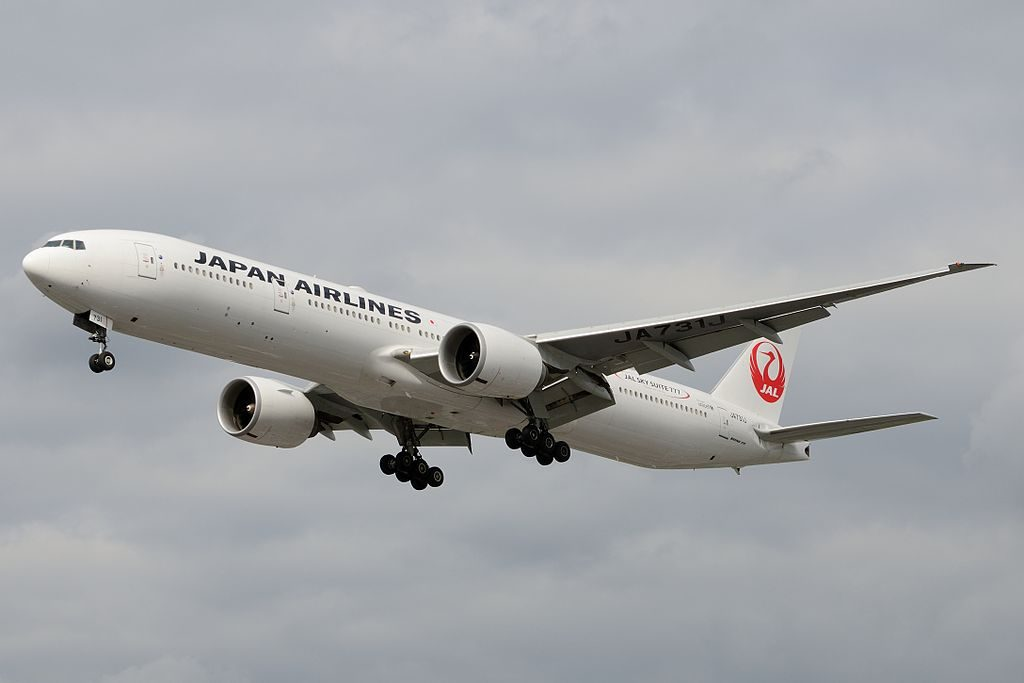 JAL Japan Airlines Boeing 777 346ER JA731J at Domodedovo International Airport