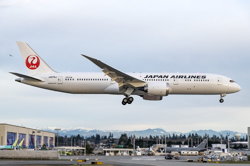 JAL Japan Airlines Boeing 787 9 Dreamliner JA876J at Paine Field