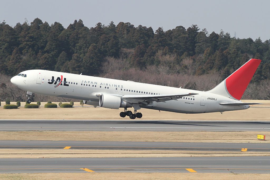 JAL Japan Airlines JA606J Boeing 767 346ER at Narita International Airport