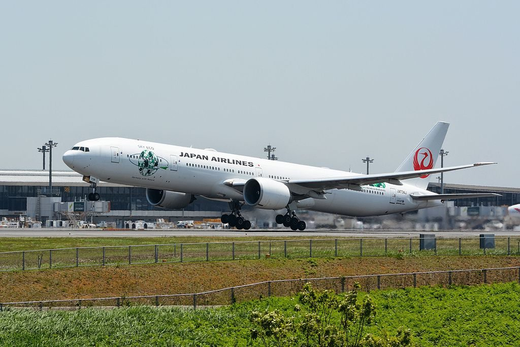 JAL Japan Airlines JA734J Boeing 777 346ER Sky Eco at Narita International Airport