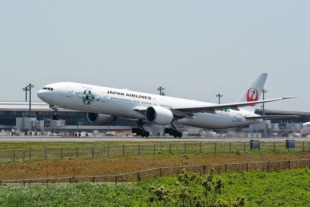 JAL Japan Airlines JA734J Boeing 777 346ER Sky Eco at Narita International Airport