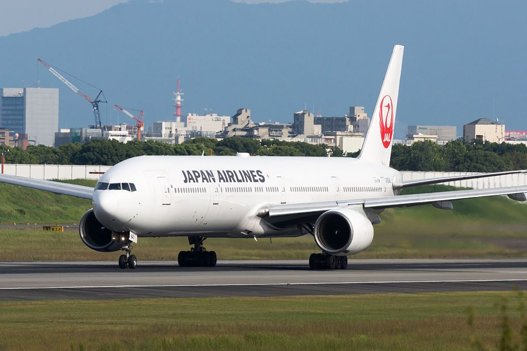 JAL Japan Airlines JA8945 Boeing 777 346 at Osaka International Airport