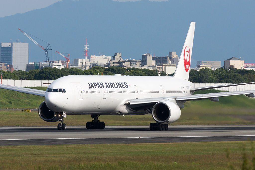 JAL Japan Airlines JA8945 Boeing 777 346 at Osaka International Airport