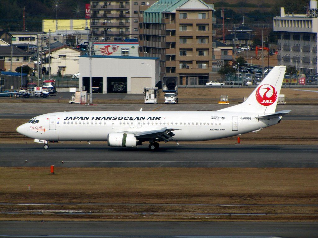 JAL Japan Transocean Air JA8991 Boeing 737 446 at Fukuoka Airport