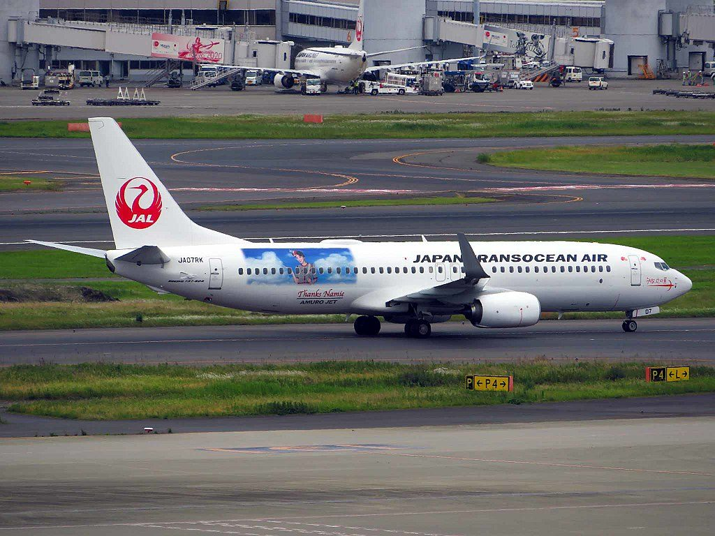 JTA Japan Transocean Air JA07RK Boeing 737 8Q3WL Amuro Jet at Tokyo International Airport