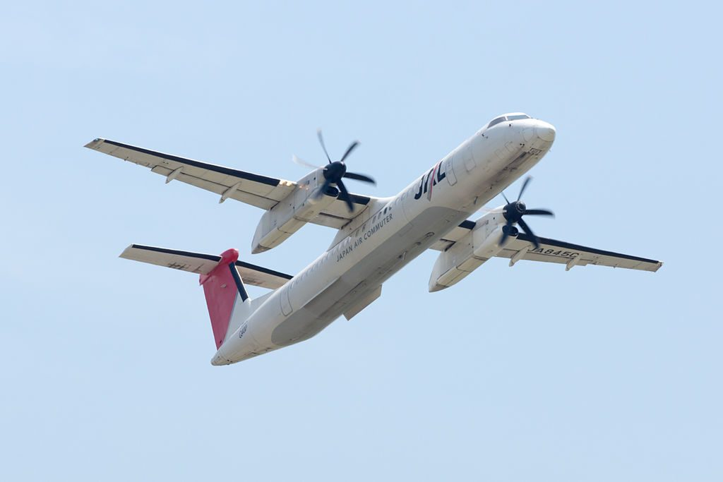 Japan Air Commuter Bombardier DHC 8 400 JA845C at Osaka International Airport