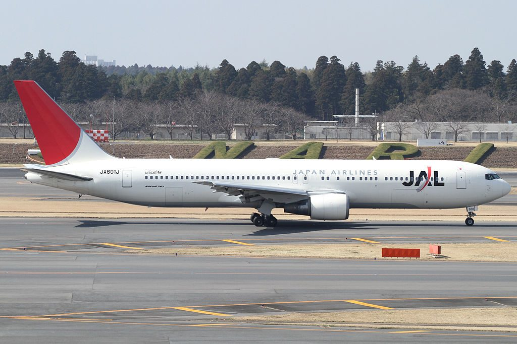 Japan Airlines JAL Boeing 767 346ER JA601J at Narita International Airport