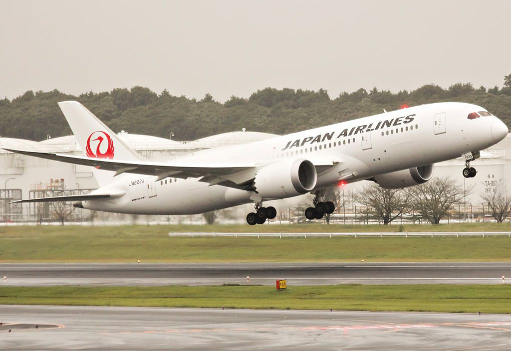 Japan Airlines JAL Boeing 787 8 Dreamliner JA823J at Narita International Airport