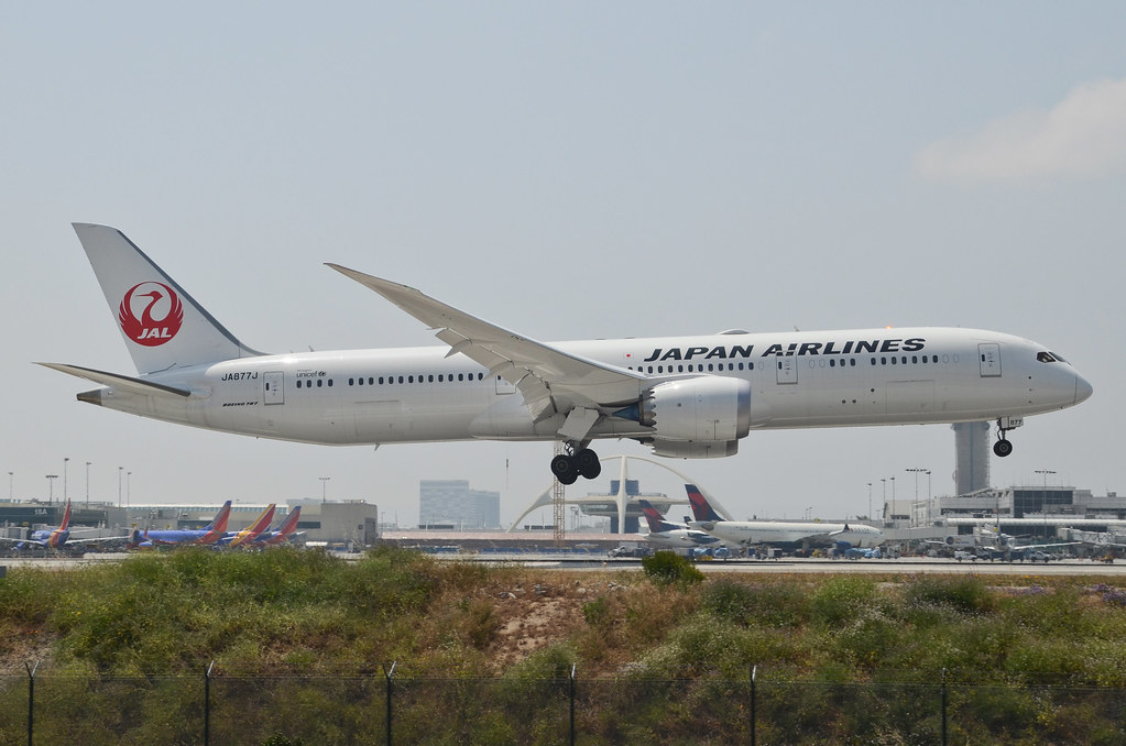 Japan Airlines JAL Boeing 787 9 Dreamliner JA877J LAX Approach
