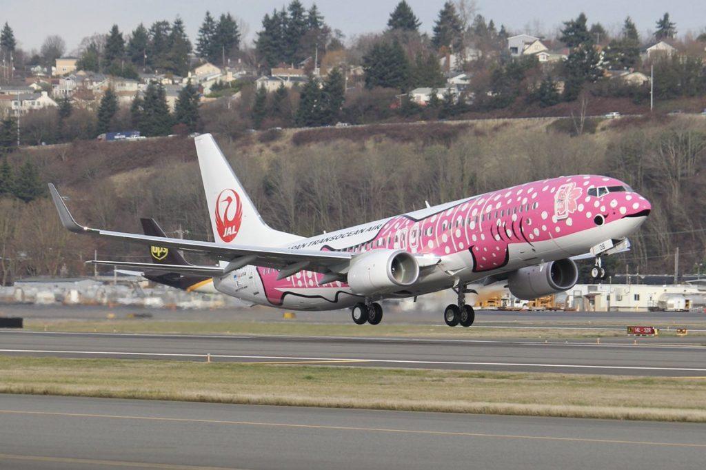 Japan Transocean Air JTA JA06RK Boeing 737 8Q3WL Jinbei Jet livery