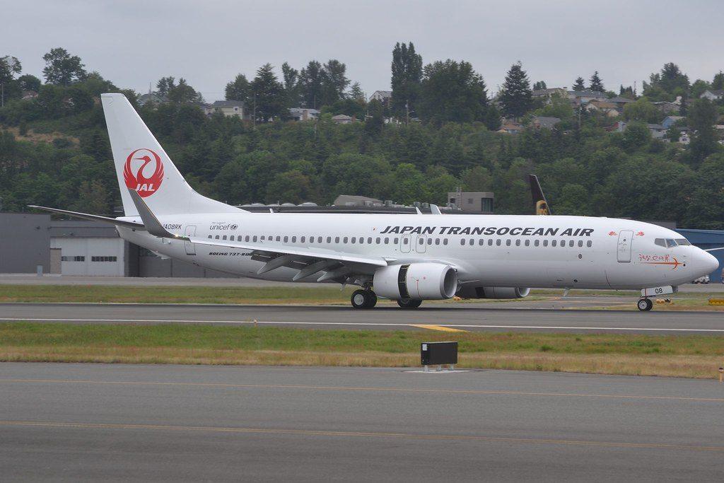 Japan Transocean Air JTA JA08RK Boeing 737 8Q3WL